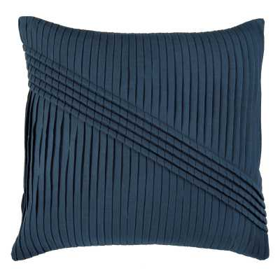 "Rizzy Home Pleats with Corded Gatherings Decorative Throw Pillow - 22"" X 22"" - Polyester insert - Hayneedle"