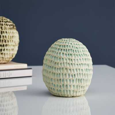 seed pod aqua sound sculpture - CB2