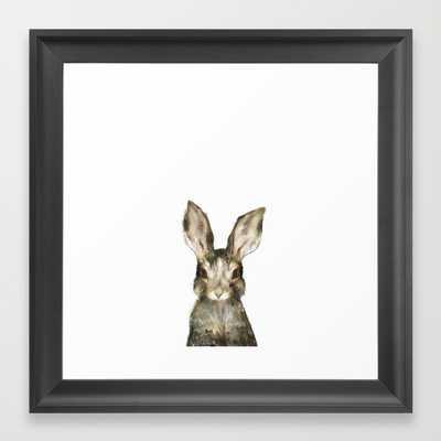 """Little Rabbit - Framed - 12"""" x 12"""" - Society6"""