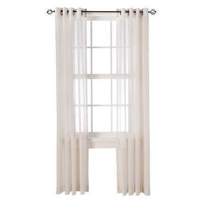 """Thresholdâ""""¢ Linen Grommet Sheer Curtain Panel- 54x 84"""" - Target"""