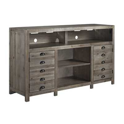 Grayish  Brown TV Stand - Overstock