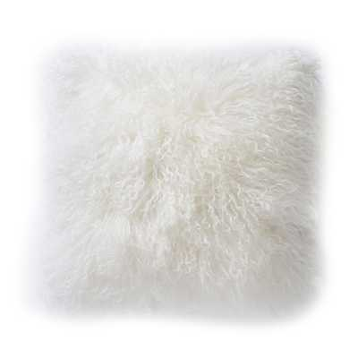 "TIBETAN SHEEPSKIN PILLOW 16"" H x 16""  - poly insert - Dwell Studio"