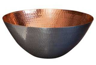 "12"" Dimpled Metal Bowl - One Kings Lane"