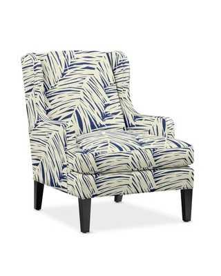 Atherton Chair, Standard, Textured Linen/Cotton, Navy - Williams Sonoma