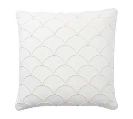Scallop Embroidered Pillow Cover - 24sq.- White - Insert Sold Separately - Pottery Barn