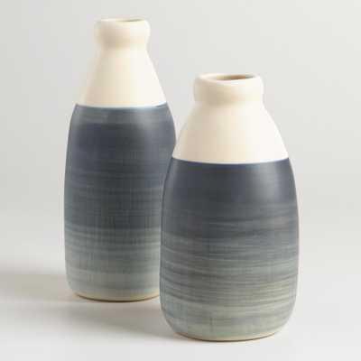 Ombre Gray Ceramic Vase - Short - World Market/Cost Plus