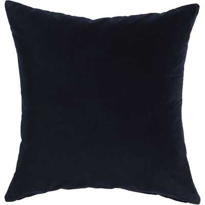 "leisure navy 23"" pillow - CB2"