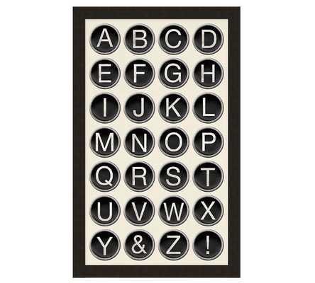 Type Key Chart Print - Pottery Barn