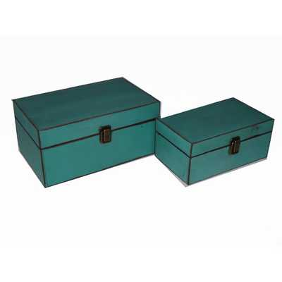 2 Piece Simple Wooden Treasure Box Set - AllModern