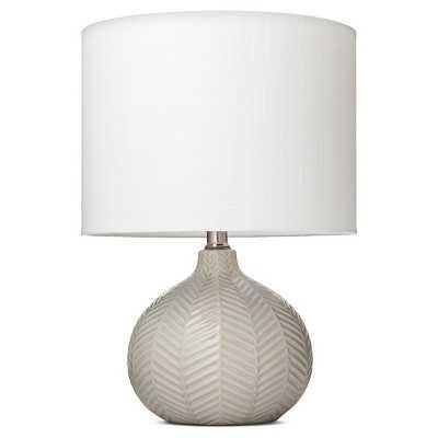 "Herringbone Ceramic Table Lamp - Cream - Thresholdâ""¢ - Target"