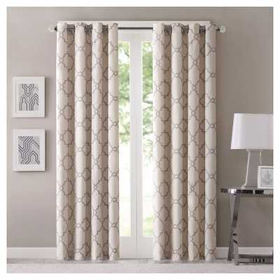 "Sereno Fretwork Window Panel - Beige - 50"" x 63"" - Target"