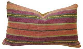 Moroccan Wool Pillow Purple, Salmon - One Kings Lane