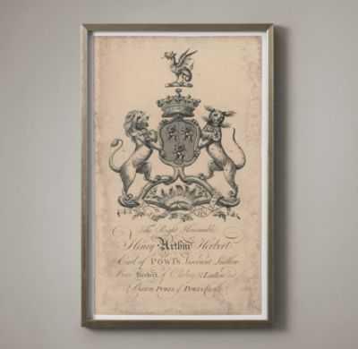 18TH C. ENGLISH ARMORIAL ENGRAVING - 01 - RH