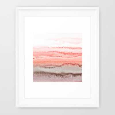 """WITHIN THE TIDES CORAL DAWN- 10"""" X 12""""- Framed - Society6"""