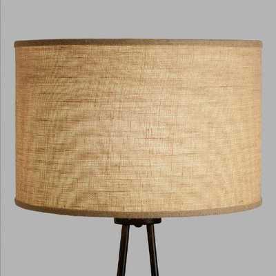 Natural Burlap Drum Floor Lamp Shade - World Market/Cost Plus