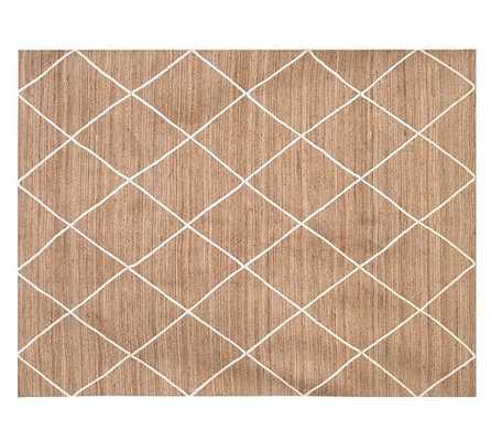 Jute Lattice Rug - Flax/Ivory - Pottery Barn