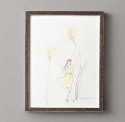 """Flower fairy illustration, Dand - 15"""" x 19¼"""" - Framed - RH"""