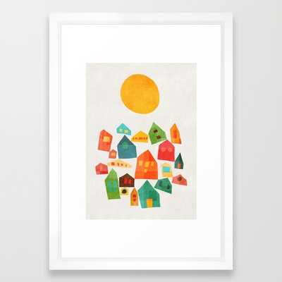 "ART PRINT/ VECTOR WHITE SMALL (15"" X 21"")-FRAMED - Society6"