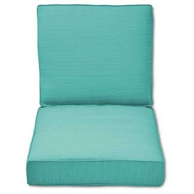 Belvedere 2-Piece Outdoor Replacement Patio Club Chair/Loveseat Cushion Set-Turquoise - Target