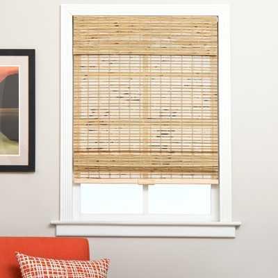 "Petite Rustique Bamboo Cordless Roman Shade - 29 "" W x 60"" H - Overstock"