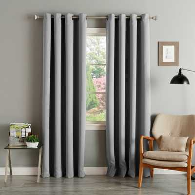 Aurora Home Thermal Insulated Blackout Grommet Top Curtain Panel Pair - Overstock