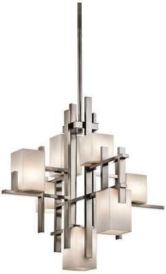 "Kichler City Lights Steel 23.5"" Wide Chandelier - Lamps Plus"