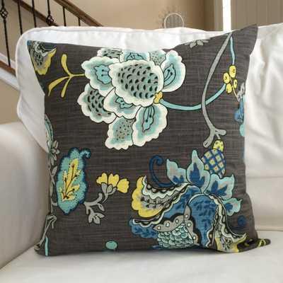 Sea Glass Jacobean Floral Coastal Throw Pillow - Etsy