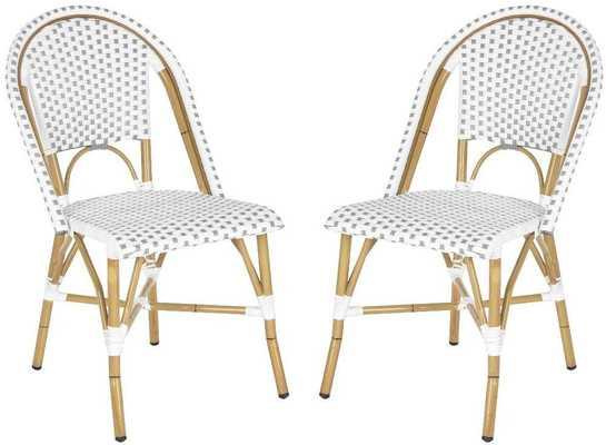 Barrow Indoor/Outdoor Stacking Chair, Set of 2 - Domino