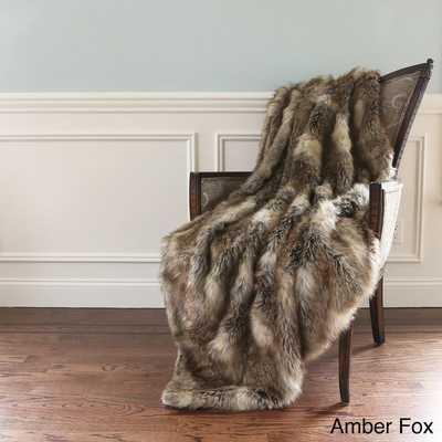 Aurora Home Wild Mannered Luxury Long Hair Faux Fur Lap Throw Blanket - Overstock