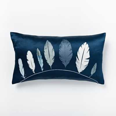 Found Feathers Pillow Cover - West Elm