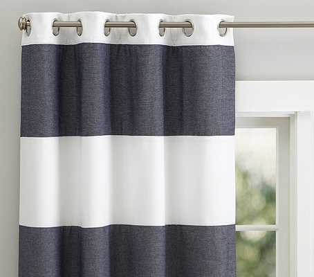 "Hayden Rugby Blackout Panel - 44 X 84"" - Navy - Pottery Barn Kids"