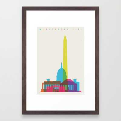 Shapes of Washington D.C. Accurate to scale - Society6