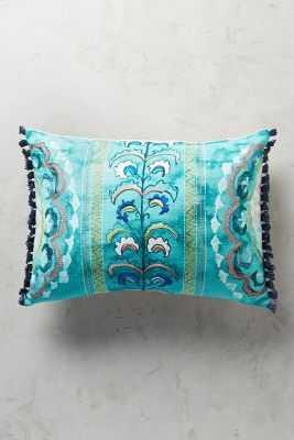 Seraphita Pillow - 14x20 - Turquoise - Polyfill insert - Anthropologie