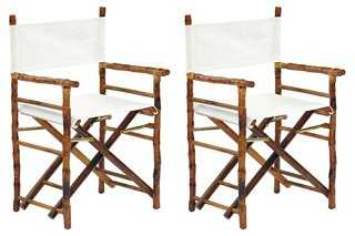 Tortoise Farr Director's Chairs, Pair - One Kings Lane