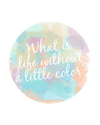 Colorful Life Inspirational Print - Etsy
