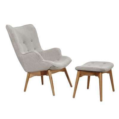 Huggy Mid Century Arm Chair & Ottoman Set - Wayfair