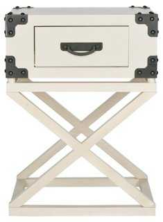 Valencia Nightstand, White - One Kings Lane