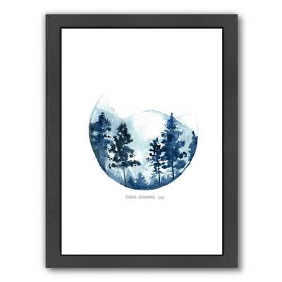 Blue Mountain - 16.5x13.5, Framed - AllModern