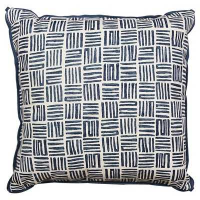 "Watercolor Mazes Print Pillow - 18"" x 18"" - Polyester fill - Target"