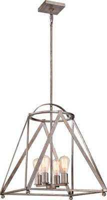 """Quoizel 18 1/2"""" Wide Vintage Gold Foyer Lantern Pendant - Lamps Plus"""