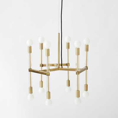 Acrylic Framework Chandelier – Round - Antique brass - West Elm