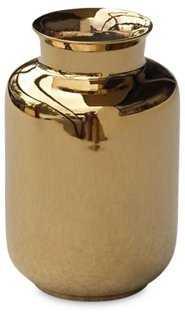 """5"""" Porcelain Milk Jar, Gold - One Kings Lane"""