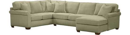 Piedmont Sectional - Option B - Flax - havertys.com