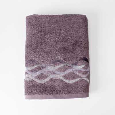 Sketchbook Waves Bath Towel - Purple - Wayfair