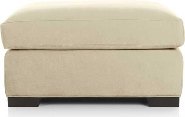 Axis II Ottoman - Sand - Crate and Barrel