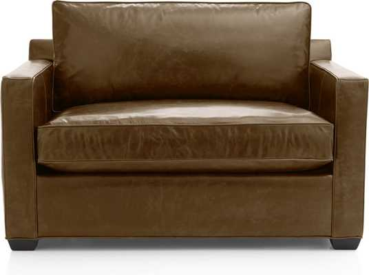 Davis Leather Twin Sleeper Sofa - Crate and Barrel