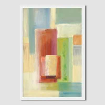 """Sarah Campbell - Geo Strokes - Stacking Color - 14"""" x 20"""" - Framed - West Elm"""