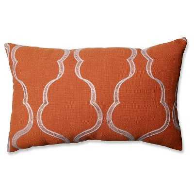 Cassie Tangerine Throw Pillow - 18x11.5 - with insert - Target