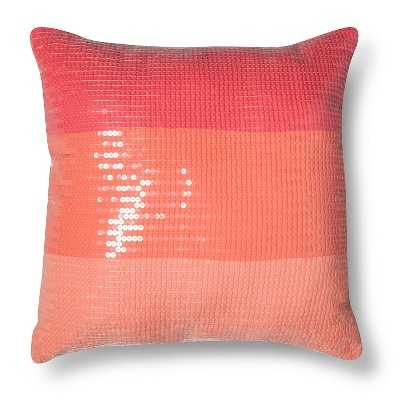 Xhilaration® Ombre Sequin Decorative Pillow - Pink - Target