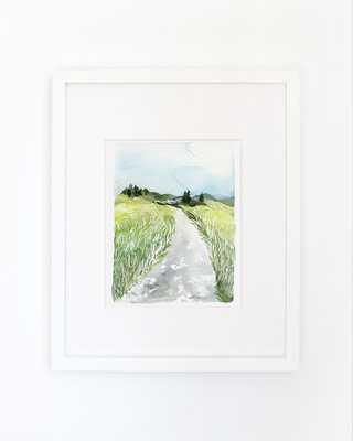 Landscape of Grass No. 1- Watercolor Art Print-  11x14- Framed - Etsy
